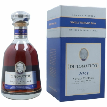 Rum Diplomatico Single Vintage 2005 Díszdobozban  0.70L (43% Vol.)