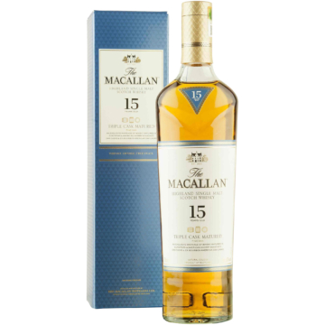 The Macallan 15 Year Old Triple Cask Skót Whisky 0,7l 43%
