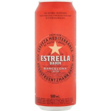 Estrella Damm 0,5l dob 4,6% spanyol világos sör