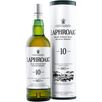 Laphroaig 10 éves The Islay Single Malt Skót Whisky 0,7l 40%