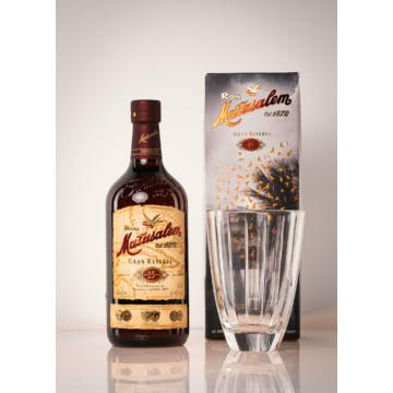 Matusalem 15 éves Gran Reserva Rum pohárral díszdobozban