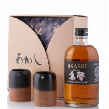 Akashi Meisei Japán Whisky Ajándékcsomag 0,5l 40%