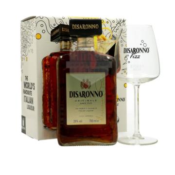 Disaronno Amaretto 0,7l 28% + Fizz pohár DD