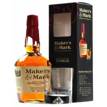 Maker's Mark Kentucky Straight Bourbon Whisky díszdobozban pohárral 0,7L 45%