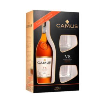 Camus VS Elegance Konyak 2 pohárral Díszdobozban 0,7l 40%