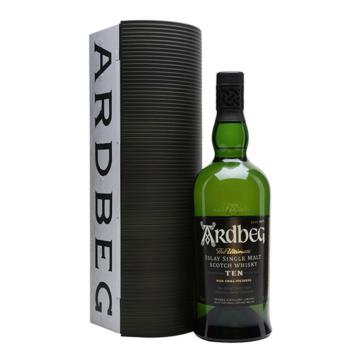 Ardbeg 10 Éves Skót Whisky Fém Díszdobozban 0,7l 46%