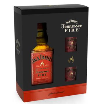 Jack Daniel's Tennessee whiskey Fire Díszdobozban 2 pohárral 0,7l 35%