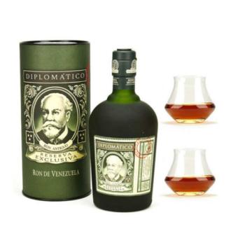 Diplomatico Reserva Exclusiva Rum 2 pohárral díszdobozban 0,7l 40%