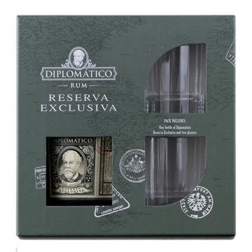 Diplomatico Reserva Exclusiva + 2 db Old Fashioned pohárral 0,7l 40%