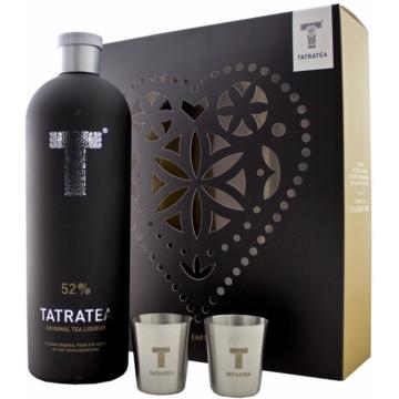 Tatratea (fekete) Eredeti tea likőr 0,7l 52% +2pohár DD limitált