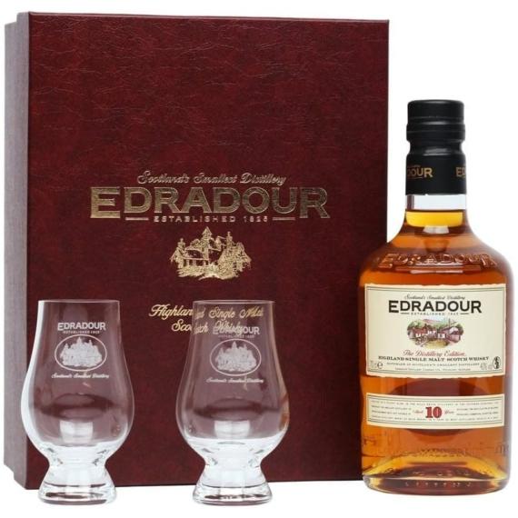 Edradour 10 éves 0,7l 40% + 2 pohár prémium DD