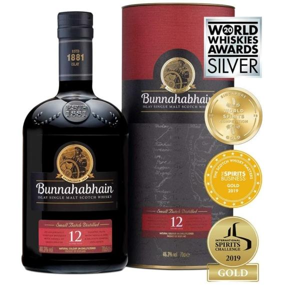 Bunnahabhain 12 éves Islay Single Malt Skót Whisky 0,7l 46,3%