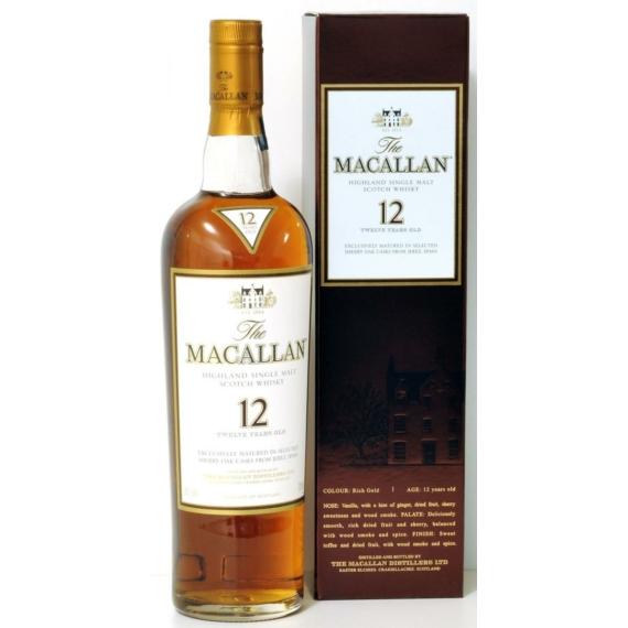 The Macallan Sherry Oak 12 éves Single Malt Skót Whisky 0,7l 40%