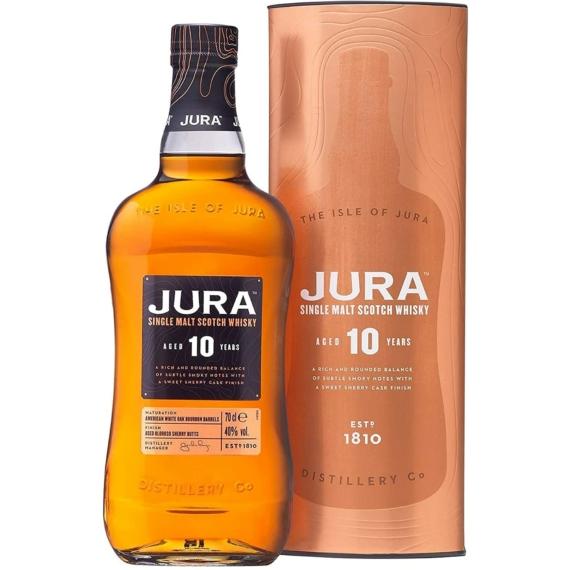Jura 10 Éves Single Malt Skót Whisky 0,7l 40%