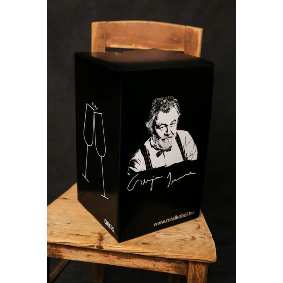 Mr. Alkohol logós doboz 4 férőhelyes