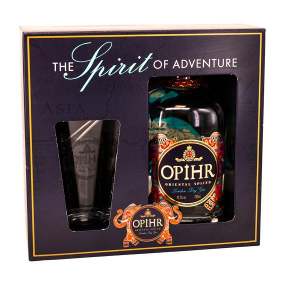 Opihr London Dry gin Pohárral Díszdobozban 0,7l