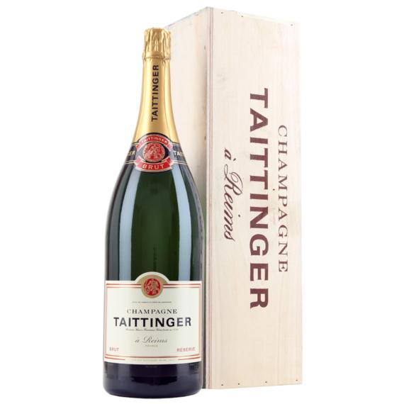 Taittinger Brut Reserva Jeroboam Champagne fadobozban (3 l, 12%)
