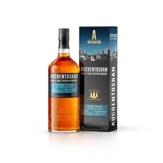 Auchentoshan Three Wood Single Malt Scotch Skót Whisky 0,7l 43%