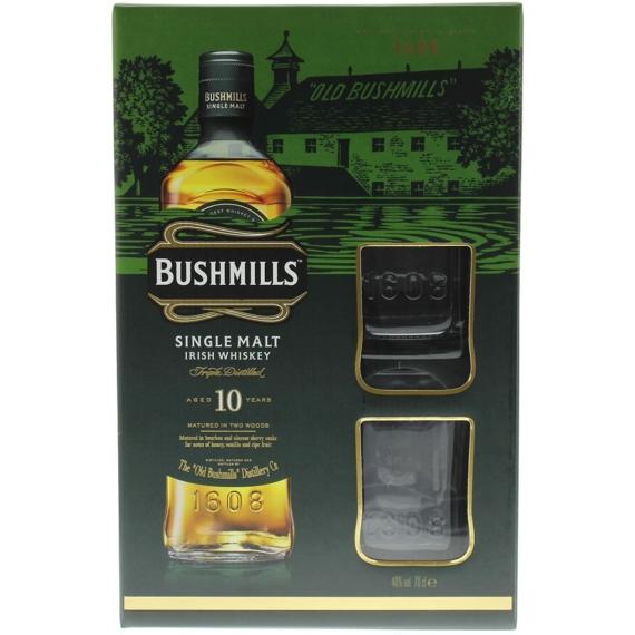 Bushmills 10 éves 0,7l 40% + 2 pohár DD