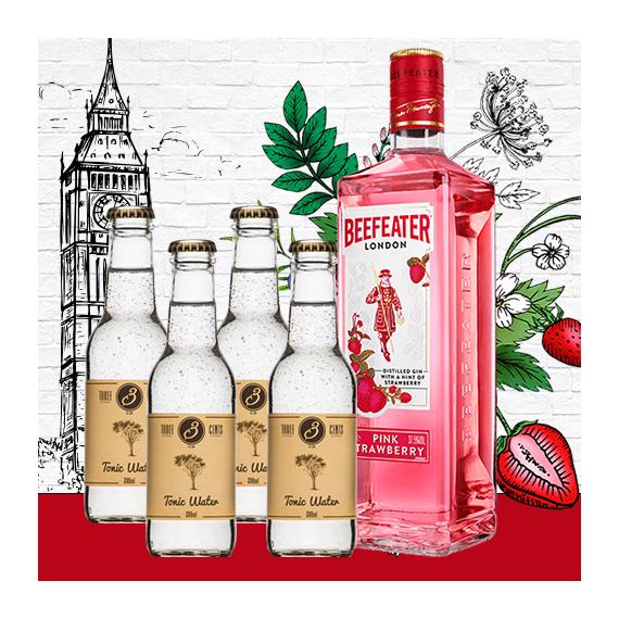 Beefeater Pink Strawberry Gin Tonik Szett