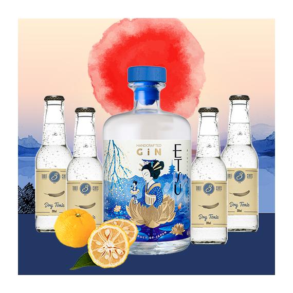 Etsu japán gin tonik szett