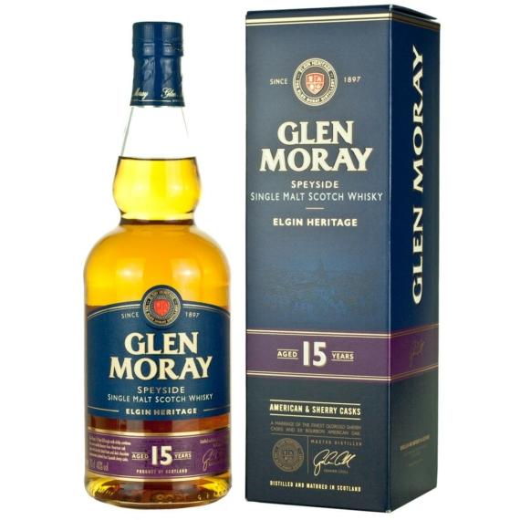 Glen Moray Elgin Classic 15 éves Skót Whisky 0,7l 40%