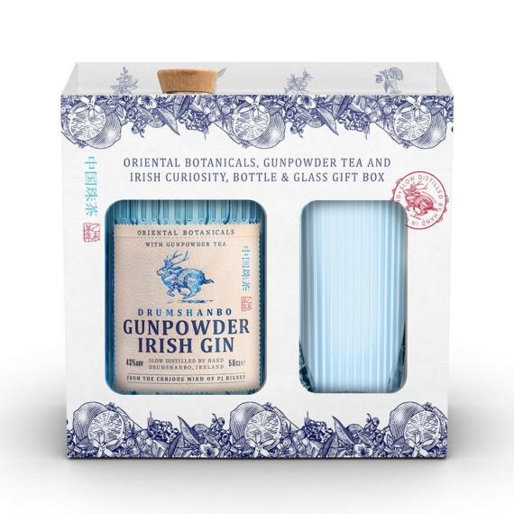 Drumshanbo Gunpowder 0,5l 43% + pohár DD