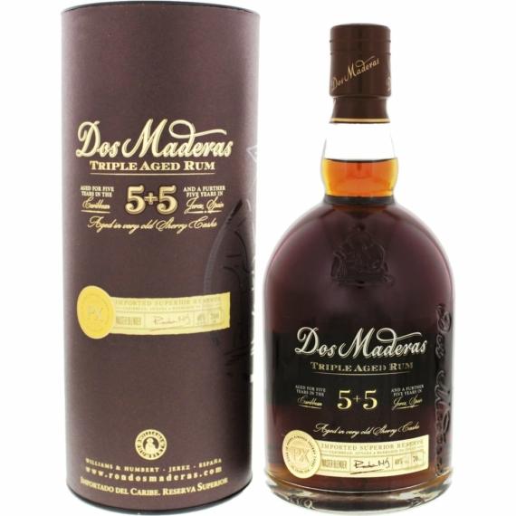 Dos Maderas PX 5 éves rum díszdobozban 0,7l 40%