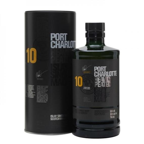 Bruichladdich Port Charlotte 10 éves Skót Whisky 0,7l 50%