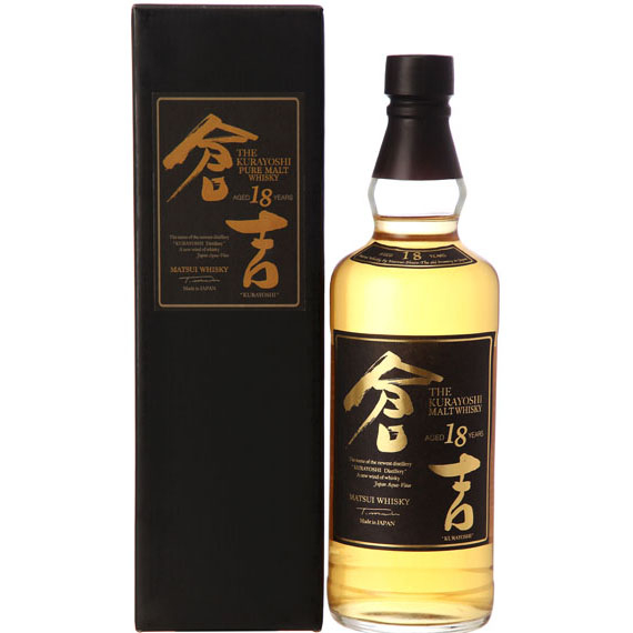 The Kurayoshi Pure Malt 18 éves whisky 0,7l 50% DD