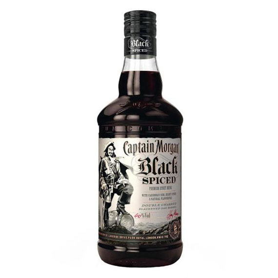 Captain Morgan Black Spiced rum 1,0l 40%