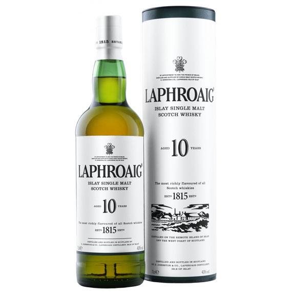 Laphroaig 10 éves whisky 0,7l 40% DD.
