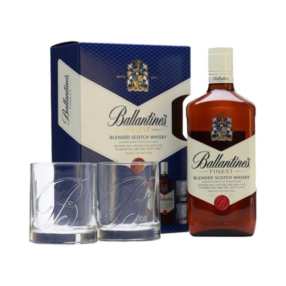 Ballantine's Skót Whisky Pohárral Díszdobozban 0,7l 40%