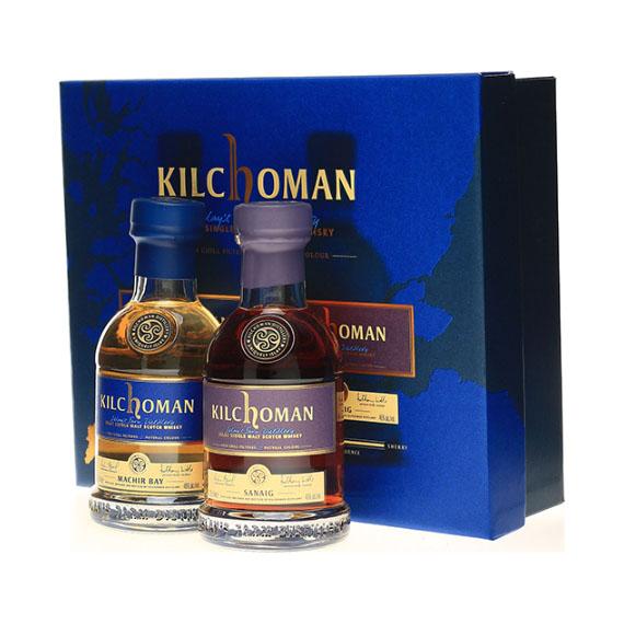 Kilchoman Gift box 2x0,2l Machir Bay+Sanaig 46%