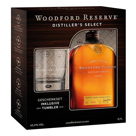 Woodford Reserve 0,7l DD + pohár 43,2%