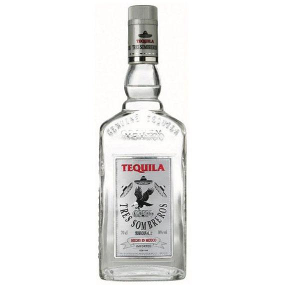 Tequila 3 Sombreros Silver 0,7L 38%