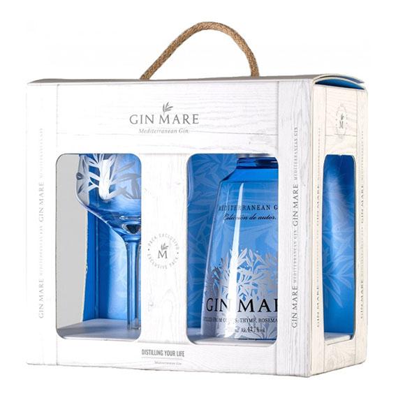 Gin Mare 0,7l 42,7% + pohár DD