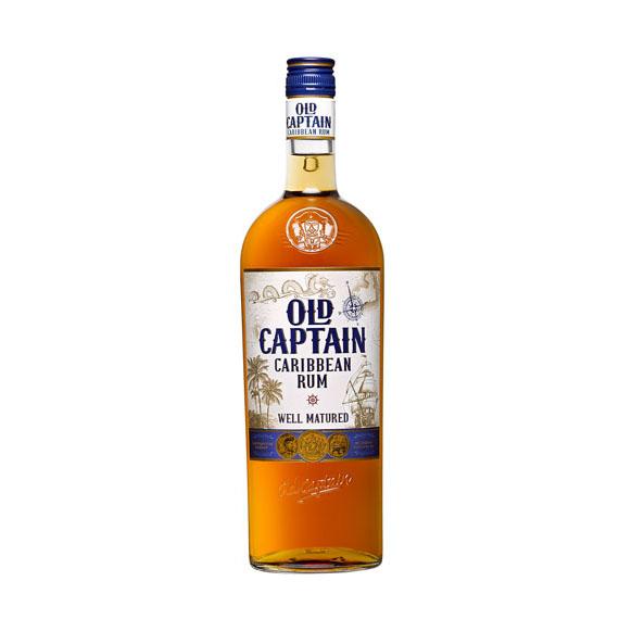 Old Captain Karibi Fehér Rum 1,0l 37,5%