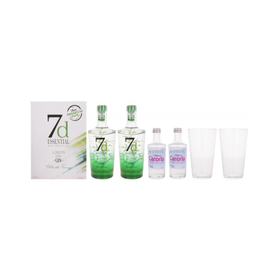 7d Essential London Dry Gin 0,7l 41% 1/2 (7 times distilled)