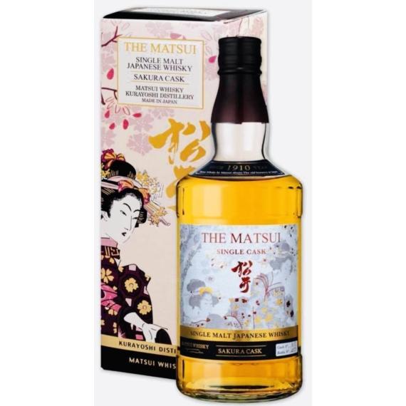The Matsui Sakura Single Cask Whisky Díszdobozban 0,7l 48%