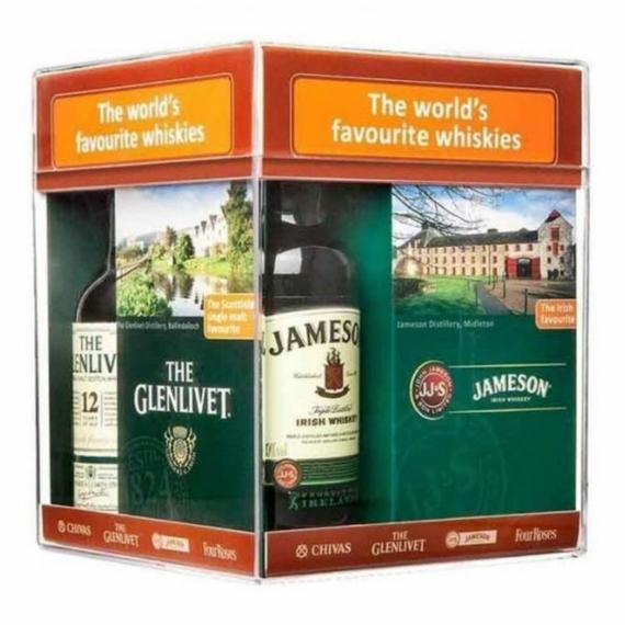 World Favourite Whiskies 4x0,05l Glenlivet F.Res/Jameson/Ballantines/Chivas12