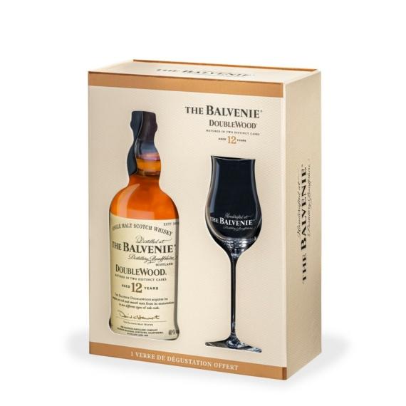 Balvenie 12 éves Double Wood Skót Whisky Pohárral 0,7 l, 40%