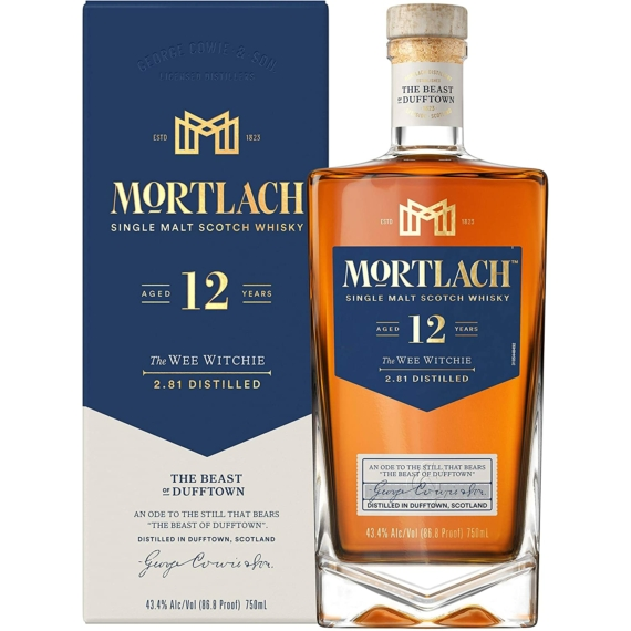 Mortlach 12 Éves The Wee Witchie Scotch Skót Whisky 0,7l 43,4%