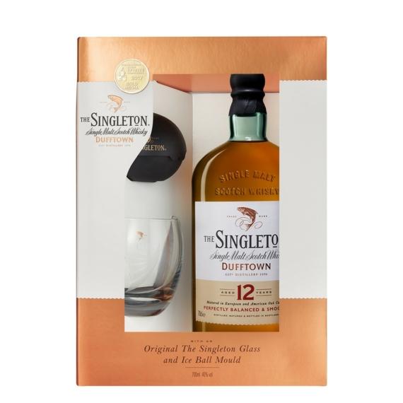 The Singleton of Dufftown 12 éves Whisky Pohárral és Jéggömb készítővel,