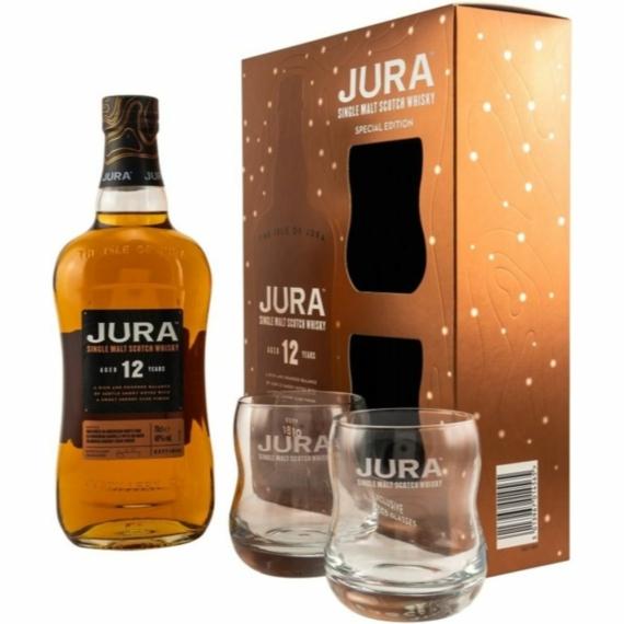 Jura 12 éves 0,7l 40% + 2 pohár DD